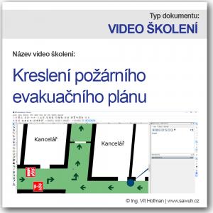 Kreslení požárního evakuačního plánu - video školení