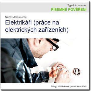 Písemné pověření elektrikářů