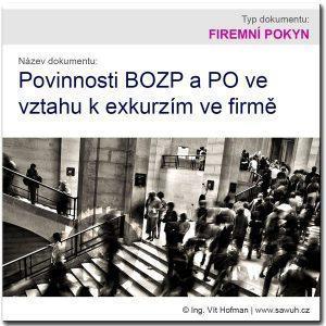 Povinnosti BOZP a PO k exkurzím ve firmě