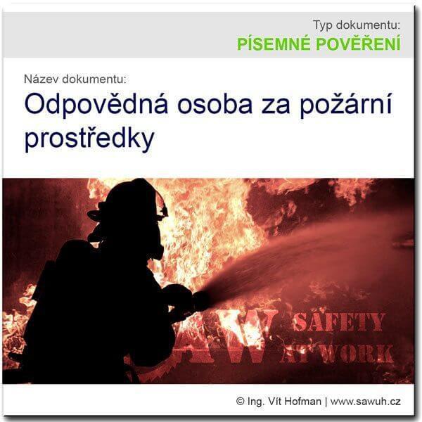 Osoba odpovědná za požární prostředky