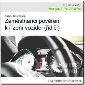 Písemné pověření řidičů firemních vozidel