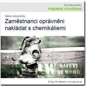 Písemné pověření k nakládání s chemickými látkami