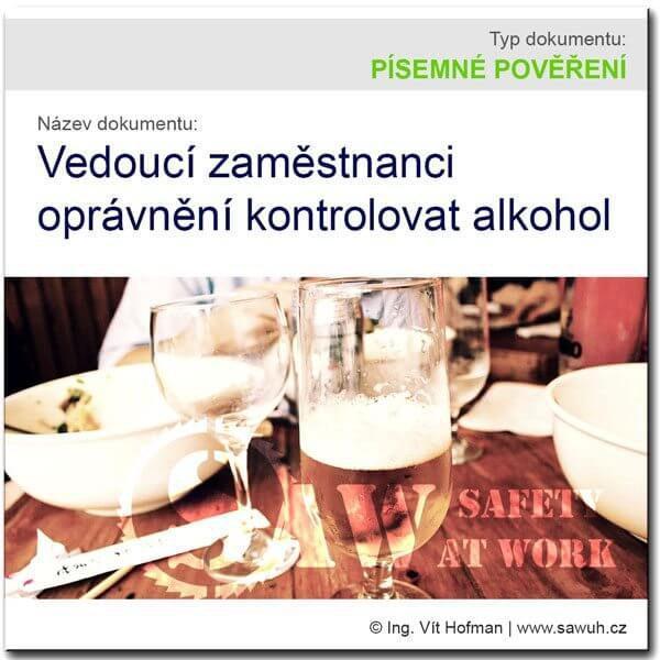 Pověření vedoucích zaměstnanců k prevenci alkoholu