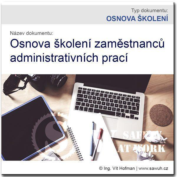 Osnova školení BOZP: Administrativa