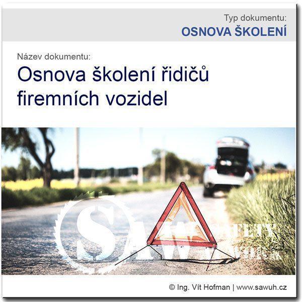 Osnova školení řidičů firemních vozidel