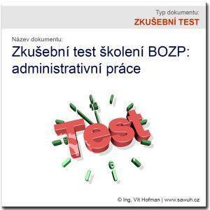 Zkušební test BOZP (administrativa)