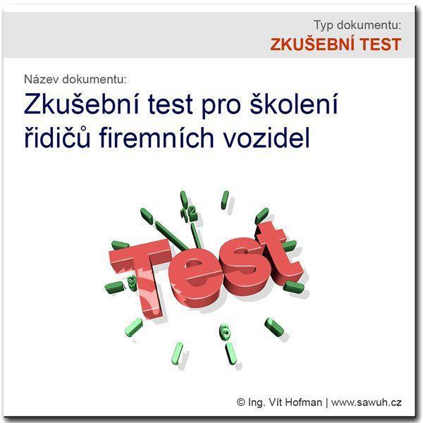 Zkušební test pro školení řidičů