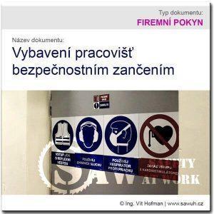 Vybavení pracovišť bezpečnostním značením