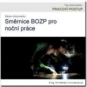 Směrnice pro noční práce - vzor dokumentu BOZP ke stažení