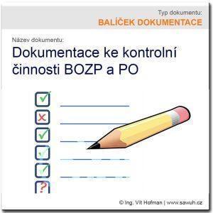 Kontrolní činnost na úseku BOZP a PO [balíček]