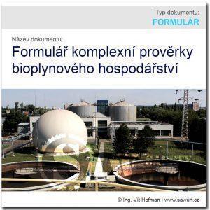 Komplexní prověrky bioplynového hospodářství – vzor formuláře