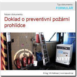 Doklad o preventivní požární prohlídce
