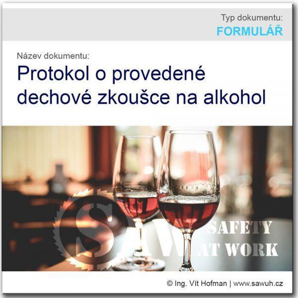 Protokol dechové zkoušky na alkohol