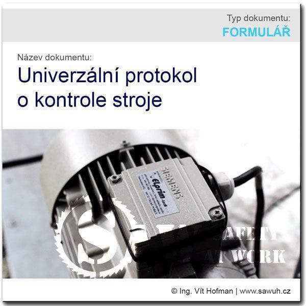 Univerzální protokol o kontrole stroje