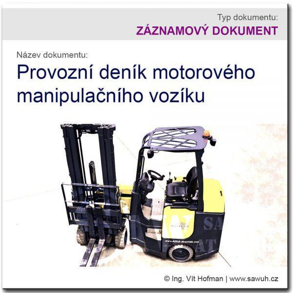 Provozní deník manipulačního vozíku