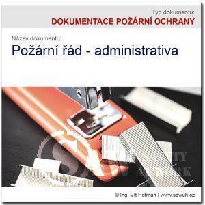 Požární řád - administrativa