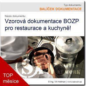 Bezpečnost práce v kuchyni - vzorová dokumentace BOZP ke stažení!