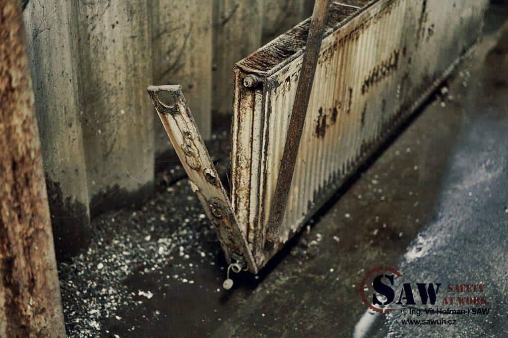 Rozpadající se radiátor